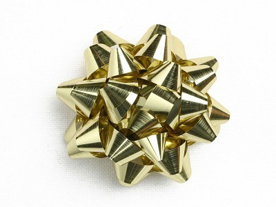 Starbow metallic, 50mm doormeter, goud, 100 stuks