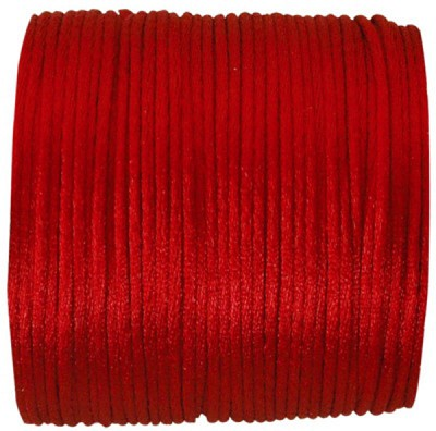 Sierkoord `queue de rat` 2mm doormeter, 25m lang, rood