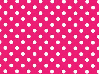 Geschenkpapier 70cm breed, 100m lang, polka dots hot pink