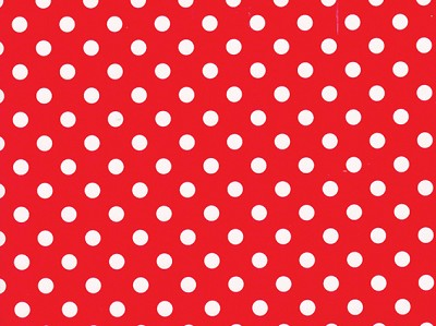 Geschenkpapier 70cm breed, 100m lang, polka dots red