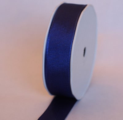Lint in stof UNI WIRED, 25mm br, 25m lang, blauw