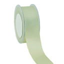 Zijdelint double faced satijn, 10mm breed, 25m lang, mint green
