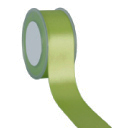 Zijdelint double faced satijn, 10mm breed, 25m lang, Apple green