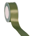 Zijdelint double faced satijn, 10mm breed, 25m lang, Olive green