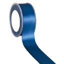 Zijdelint double faced satijn, 10mm breed, 25m lang, Navy blauw