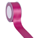 Zijdelint double faced satijn, 25mm breed, 25m lang, fuchsia