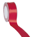 Zijdelint double faced satijn, 25mm breed, 25m lang, Rood