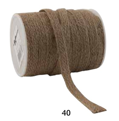 Jute lint, 12mm breed, 20m lang, natuurkleur