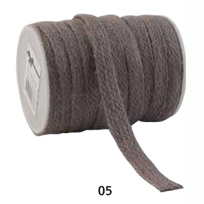Jute lint, 12mm breed, 20m lang, taupe