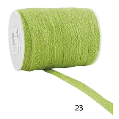 Jute lint, 12mm breed, 20m lang, limoen