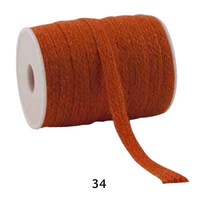 Jute lint, 12mm breed, 20m lang, oranje