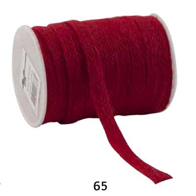 Jute lint, 12mm breed, 20m lang, rood