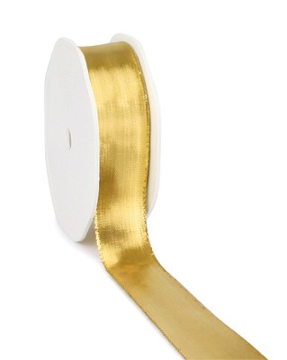 Lahnband, 25mm x 25m, metallic glanzend goud