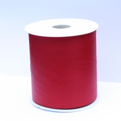 Moiré Lint XXL rood, 100mm breed, 25m lang