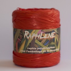 Raffialint in PP, 200m lang, rood
